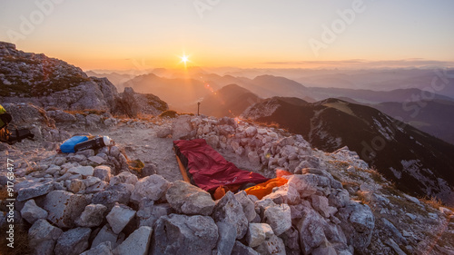 In de dag Alpinisme Biwakieren am Guffert