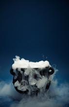 Cauldron: Spooky Halloween Cauldron With Smoke