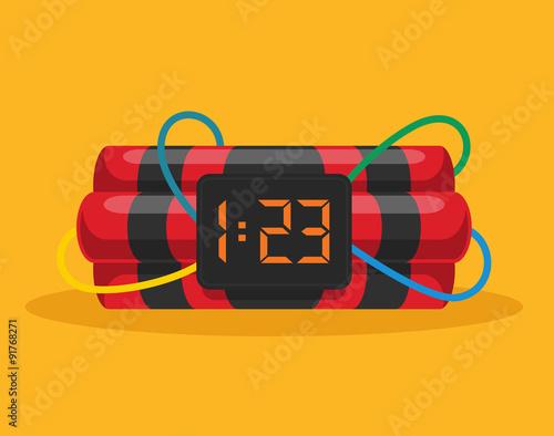 Valokuva  Bomb with clock timer