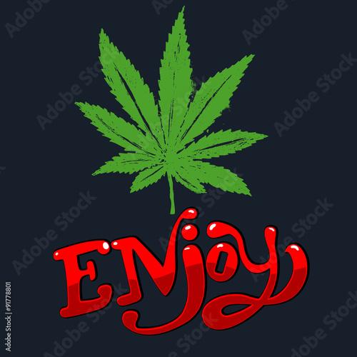 Photo  cannabis leaf