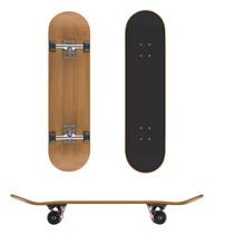 Skateboard Deck On A White Bac...