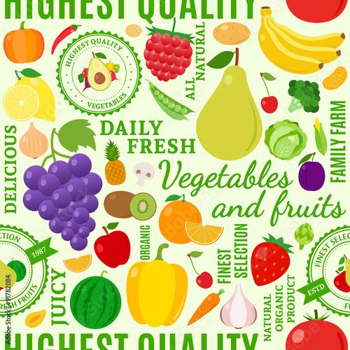owoce-i-warzywa-typograficzne-wektor