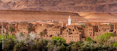 Ingelijste posters Marokko Moroccan village