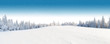 Leinwandbild Motiv Winter snowy landscape