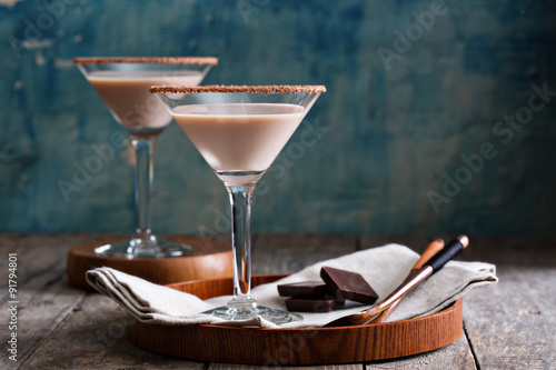 Photo  Chocolate martini coctail