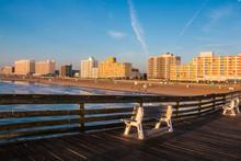 Virginia Beach Boardwalk As Seen From The Oceanfront Fishing Pier
