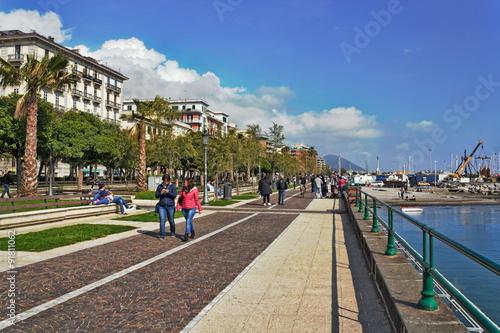 Stampa su Tela Salerno Uferpromenade