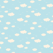 Seamless Pattern With Clouds A...