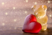 Gummy Bear With Red Heart And ...
