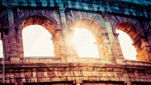 Photo  Architecture and arches of the Colosseum in Rome, Italy