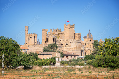 Olite medieval castle in Navarra, Spain