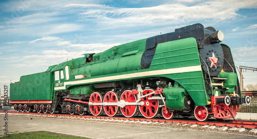 plakat old steam locomotives of the 20th century