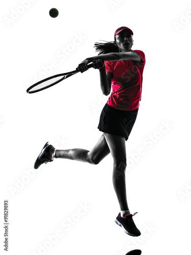 Fotografie, Obraz  woman tennis player sadness silhouette