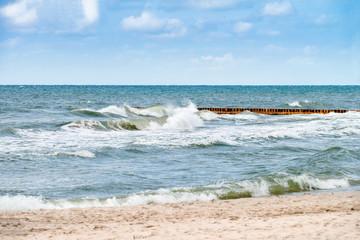 Panel Szklany Podświetlane Do dentysty Morze Bałtyckie - Łeba
