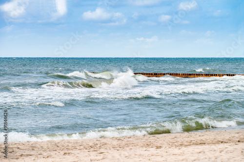 Obraz Morze Bałtyckie - Łeba - fototapety do salonu