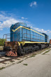 TOGLIATTI, RUSSIA - SEPTEMBER 20, 2015: TEM2 diesel-electric locomotive manufactured by the Kharkov Transport Machinery plant, is displayed at the AvtoVAZ Technical Museum in Togliatti, Samara, Russia