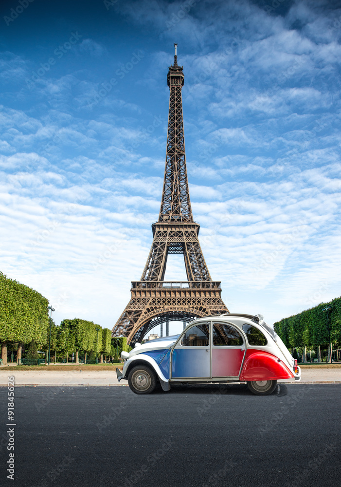 Fototapeta Tour in auto a Parigi