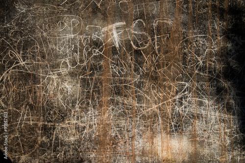 Plakat Graffiti na Kumbhalgarh fortu ścianie, India