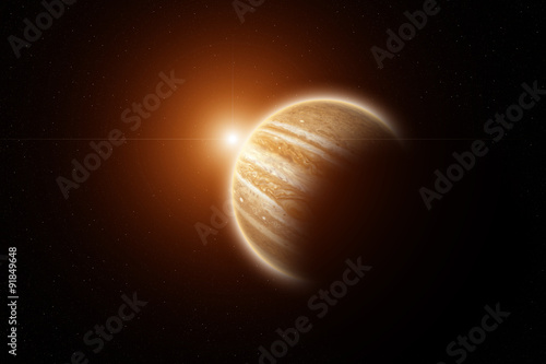 Plakat  Rising Sun on Planet Jupiter