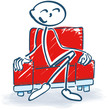 Strichmännchen im Sessel
