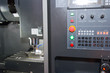 Industrial metal blank working on high precision CNC machine