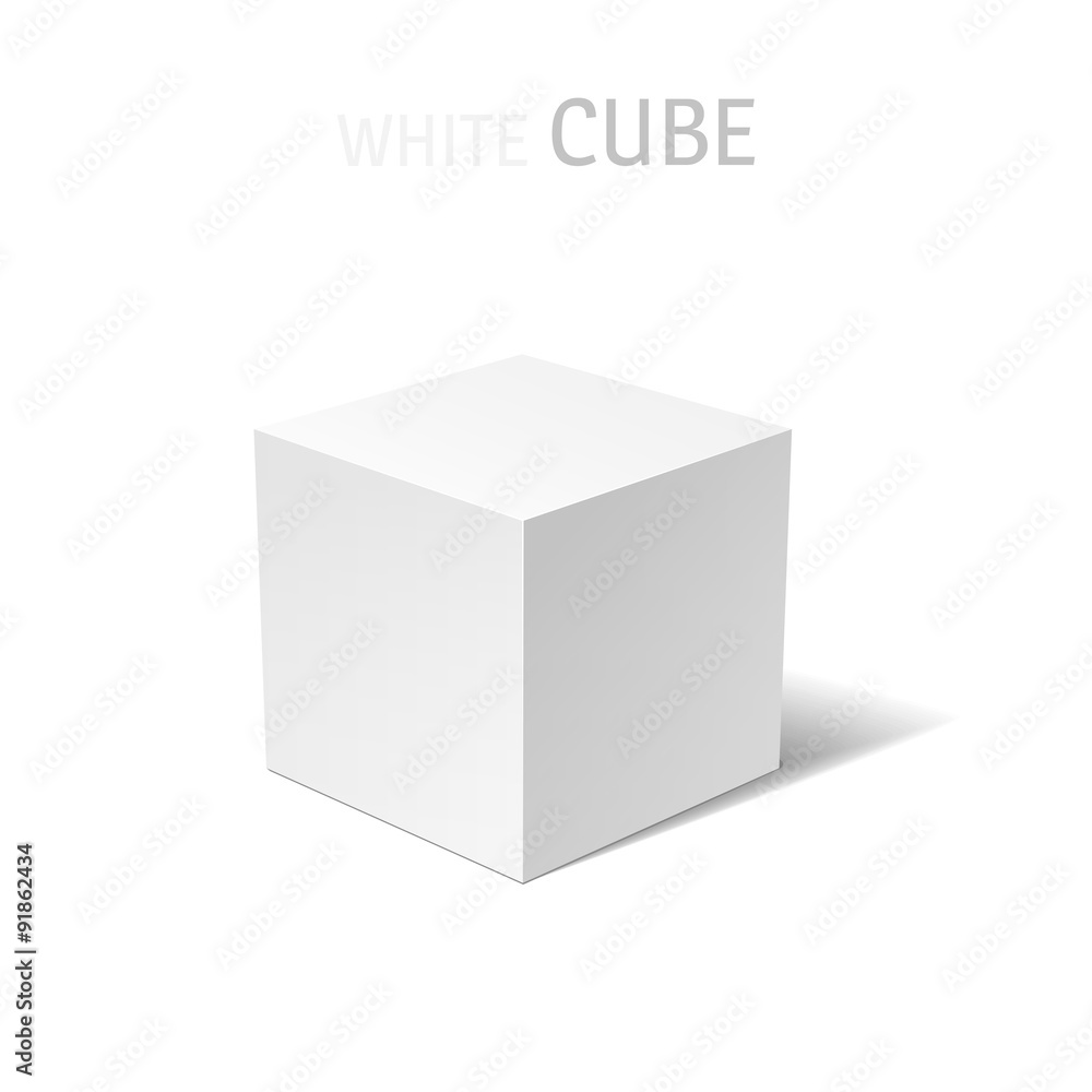 Fototapeta White box isolated