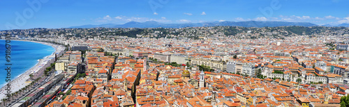 Spoed Foto op Canvas Nice panoramic view of Nice, France