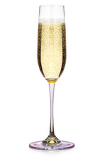 Glass Of Champagne Isolated On A White