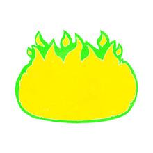 Cartoon Green Halloween Fire Border