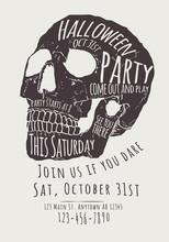 Vector Halloween Party Invitat...