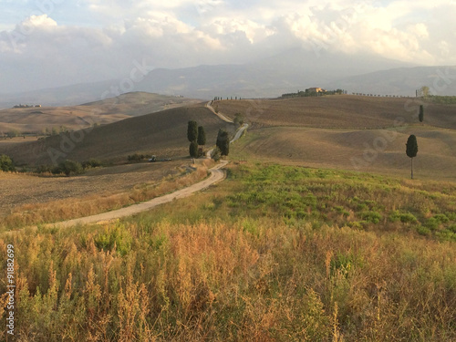 Spoed Foto op Canvas Natuur Il sentiero del gladiatore, Italia, Toscana,Pienza