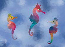 Seahorses Background Color