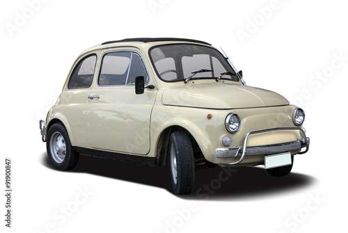 Fotografia  Classic Italian supermini car isolated on white