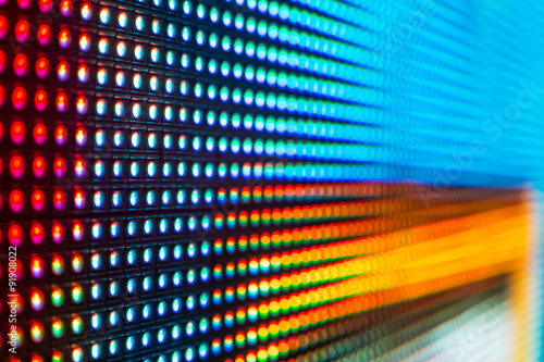 Fotografija Blue, red and yellow colored LED smd screen