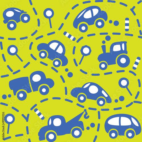 samochody-na-drodze-bezszwowy-wzor