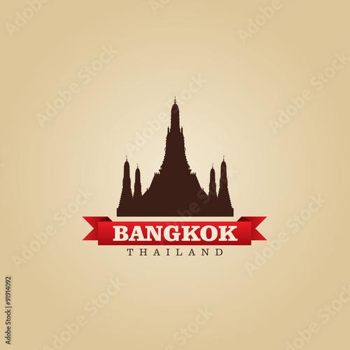 Photo Bangkok Thailand city symbol vector illustration