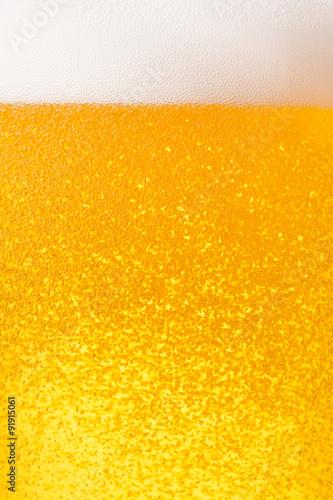 ビールのクローズアップ Poster