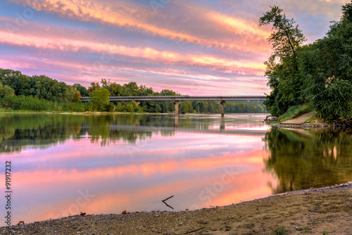 Fotografie, Obraz  HDR sunset on the James River