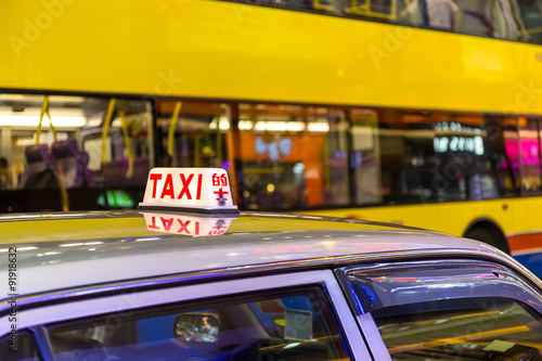 Photo  Taxi Sign