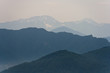 Mountains in haze. Background image