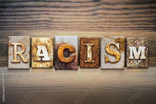 Racism Concept Letterpress Theme Canvas Print