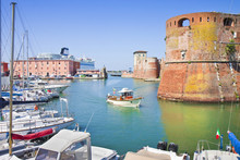 The Livorno's Harbour With A S...