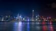 香港 ビクトリアハーバーの夜景