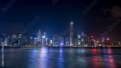 Foto op Canvas Hong-Kong 香港 ビクトリアハーバーの夜景