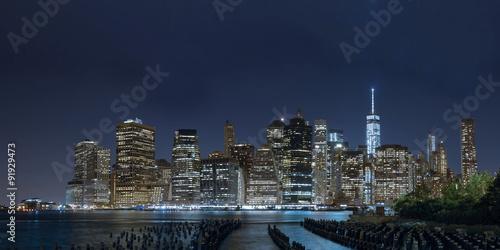 Night Manhattan panorama Poster