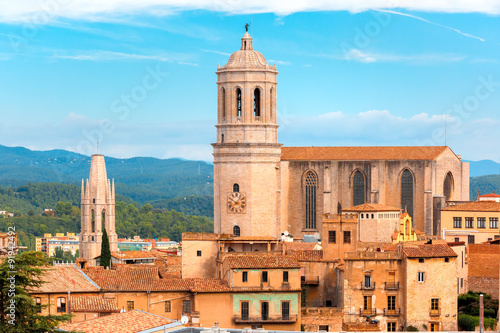 Saint Mary Cathedral in Girona, Catalonia, Spain