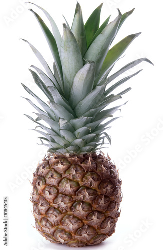 Fototapety, obrazy: Pineapple isolated on white background