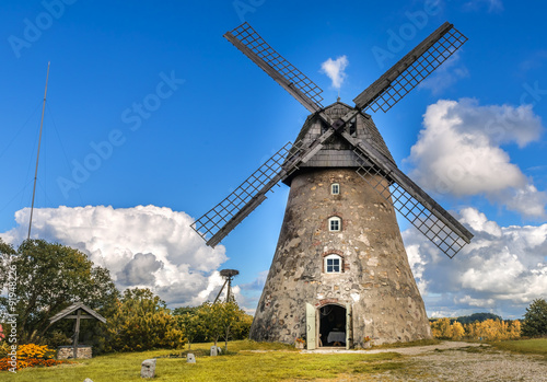 Wall Murals Mills Old windmill by summer day