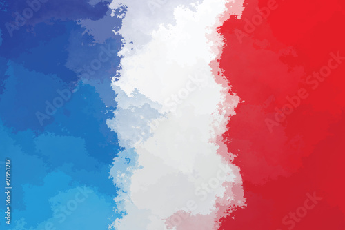 Fototapeta French flag