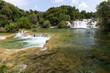 Waterfalls and cascades at the Krka National Park in Croatia.